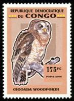 W.A.S. Calalog : Owls  - 2007 - Democratic Republic of Congo -  Animaux