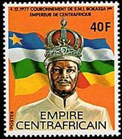 W.A.S. Calalog : Coronation of jean bedel bokassa as empereur of Central Africa I - 1977 - Republic of Central Africa -  Personnages célèbres