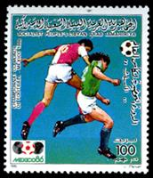 W.A.S. Calalog : Mexico Football World Cup 1986 - 1985 - Libye -  Football / Soccer
