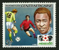 W.A.S. Calalog : football World Cup Mexico 1986 (Pelé-Schumacher-Rossi-Keegan-Platini-Rummenigge-Maradona)  1985 - 1985 - Republic of Central Africa -  Sport