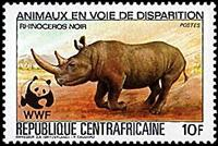 W.A.S. Calalog : Worldwide nature conservation  1983 - 1983 - Republic of Central Africa -  WWF - Fonds Mondial , Animaux