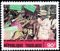 W.A.S. Calalog : Anniversary of the historic call of kpalimé 1989 - 1989 - Togo -  Evénements historiqu