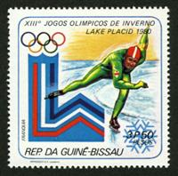 W.A.S. Calalog : Olympic games Lake Placid 1980 - 1979 - Guinée Bissau -  Jeux Olympiques, Sport