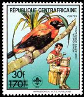 W.A.S. Calalog : free brands ; With black or silver - 1988 - République de centrafrique -  Scoutisme, Animaux