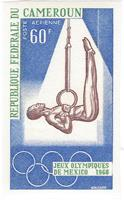 W.A.S. Flash sale of - IMPERFORATED - OLYMPIC GAMES MEXICO 68 - N°Michel N°Michel : 552/554 - Set of 3 stamps imperforated representing Olympic games of 1968 in Mexico - 1968 - CAMEROON