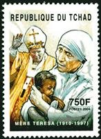 W.A.S. Calalog : Personalities of Catholicism - 2004 - Chad -  Religions, Personnages célèbres