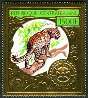 W.A.S. Calalog : Central Africa Animals / Gold - 1980 - Republic of Central Africa -  Animaux