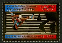 W.A.S. Calalog : Olympic Games of Summer of Los Angeles 1982 GOLD - 1982 - République de centrafrique -  Sport, Jeux Olympiques