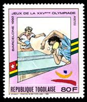 W.A.S. Calalog : Olympic Games Barcelona 1992 (1299) - 1989 - Togo -  Jeux Olympiques, Sport