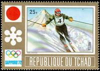 W.A.S. Calalog : Sapporo Winter Games  1972 - 1972 - Tchad -  Sport, Jeux Olympiques