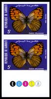 W.A.S. Calalog : Butterflies 2 imperforate sets of 5 values with Margin - 1984 - Djibouti -  Faunes & Flores