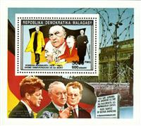 WAS Calalog - Anniversary and events  1992 (Dunant-De Gaulle-Berlin wall-Adenauer-Zeppelin) - 1 - 1992