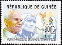 W.A.S. Calalog : Pope John Paul II  (Karol Wojtyla) 2002 - 2002 - Guinea -  Personnages célèbres, Religions