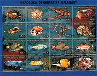 W.A.S. Calalog : Shellfishes and Crustaceans - 1992 - Madagascar -  Faunes & Flores