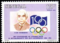 W.A.S. Calalog : 100th Anniversary of the International Olympic Committee 1994 - 1994 - Sénégal -  Jeux Olympiques, Sport