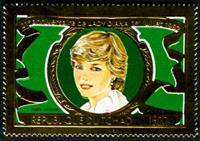 W.A.S. Calalog : Lady Diana , 20 th anniversary / Gold - 1982 - Chad -  Personnages célèbres