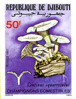 W.A.S. Calalog : mushrooms perf. and imperf. - 1987 - Djibouti -  Faunes & Flores