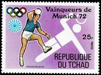 W.A.S. Calalog : Gold Medalist at Munich Olympics III 1972  - 1972 - Tchad -  Jeux Olympiques, Sport