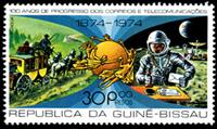 W.A.S. Calalog : 100 years of Postal & Telecommunication progress / Space  - 1977  - Guinea Bissau -  Transports, Espace