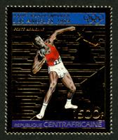 W.A.S. Calalog : Olympic Games of Summer of Los Angeles 1982 II GOLD - 1983 - République de centrafrique -  Sport, Jeux Olympiques