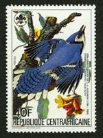 W.A.S. Calalog : Birthday of John James Audubon 1985 - 1985 - Republic of Central Africa -  Personnages célèbres, Faunes & Flores