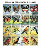 W.A.S. Calalog : Butterflies and Birds  1993 - 1993 - Madagascar -  Animaux, Faunes & Flores