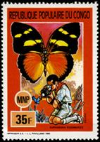 W.A.S. Calalog : Scouting , Mushrooms & Butterflies - 1991 - Congo -  Faunes & Flores