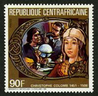 W.A.S. Calalog : Deathdate of Christoph Columbus 1985 - 1985 - Republic of Central Africa -  Personnages célèbres