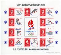 W.A.S. Calalog : FRANCE 1992 imperforate s/s J.O Albertville - 1992 - France  -  Jeux Olympiques