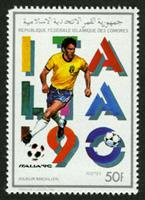 W.A.S. Calalog : Football world cup Italia 1990 - 1989 - Comores -  Football / Soccer