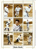 W.A.S. Calalog : Baseball, Babe Ruth  - 1999 - Guinea -  Personnages célèbres, Sport