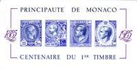 W.A.S. Flash sale of - First stamp centenary - N°Yvert BL 33 - Centenary of the first stamp 1885-1985 imperforated souvenir sheet in Purple.  Catalog price: 1800 Euros   - 1985 - MONACO
