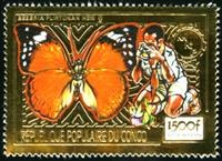 W.A.S. Calalog : Scouting ,Mushrooms & Butterflies / Gold Issues - 1991 - Congo -  Faunes & Flores