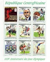 W.A.S. Calalog : Olympic summer game Atlanta 1996 - 1993 - Republic of Central Africa -  Jeux Olympiques, Sport