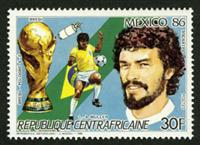W.A.S. Calalog : Win the Football Championship in Mexico by Argentina 1986 - 1986 - République de centrafrique -  Sport