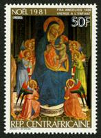 W.A.S. Calalog : Christmas Religious Paintings 1981 - 1981 - Republic of Central Africa -  Religions