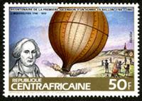 W.A.S. Calalog : Balloons & Zeppelin - 1983 - Republic of Central Africa -  Transports, Evénements historiqu