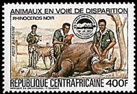 W.A.S. Calalog : world scout meeting , Alberta, Rotary International  1983 - 1983 - République de centrafrique -  Animaux, Scoutisme