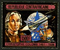 W.A.S. Calalog : Deathdate of Christoph Columbus 1985  GOLD - 1985 - Republic of Central Africa -  Personnages célèbres
