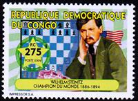 W.A.S. Calalog : World Champions of Chess - 2009 - Democratic Republic of Congo -  Personnages célèbres, Jeux d