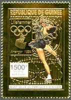 W.A.S. Calalog : Olympic Games Lillehammer 94 , Gold issue - 1993 - Guinée -  Jeux Olympiques, Sport