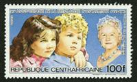 W.A.S. Calalog : Birthday of Queen Mother Elisabeth 1985 - 1985 - Republic of Central Africa -  Personnages célèbres