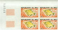 WAS Calalog - Fish - Imperforated Set of Fish ( Block of four ) - 1 - 1975
