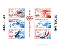 W.A.S. Calalog : WALLIS & FUTUNA 1988 J.O Seoul imperforated sheetlet - 1988 - Wallis & Futuna -  Epreuves de luxe, Jeux Olympiques