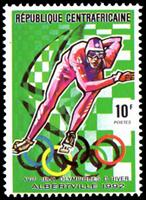 W.A.S. Calalog : Olympic winterspiele 1992, albertville  (I)  1990 - 1990 - Republic of Central Africa -  Jeux Olympiques, Sport