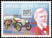 W.A.S. Calalog : Pioneers of the Transportation (Maybach-Berliot) 2002 - 2002 - Guinée -  Personnages célèbres, Transports