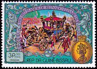 W.A.S. Calalog : 25th Anniversary of the Coronation of Queen Elizabeth II  1977 - 1977 - Guinea Bissau -  Personnages célèbres, Evénements historiqu